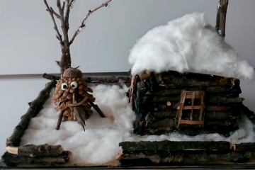 Поделка из природного материала - Зимний дом мастер-класс ...